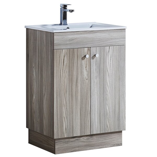 23.9 Single Sink Bathroom Vanity Set by InFurniture