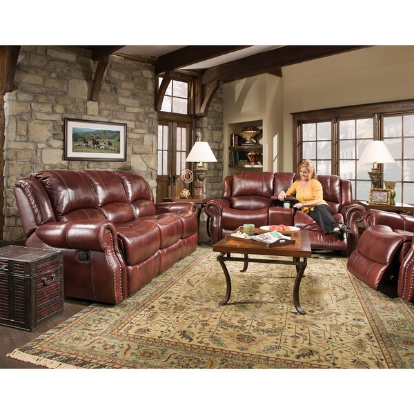 Additri Reclining 3 Piece Leather Living Room Set by Darby Home Co