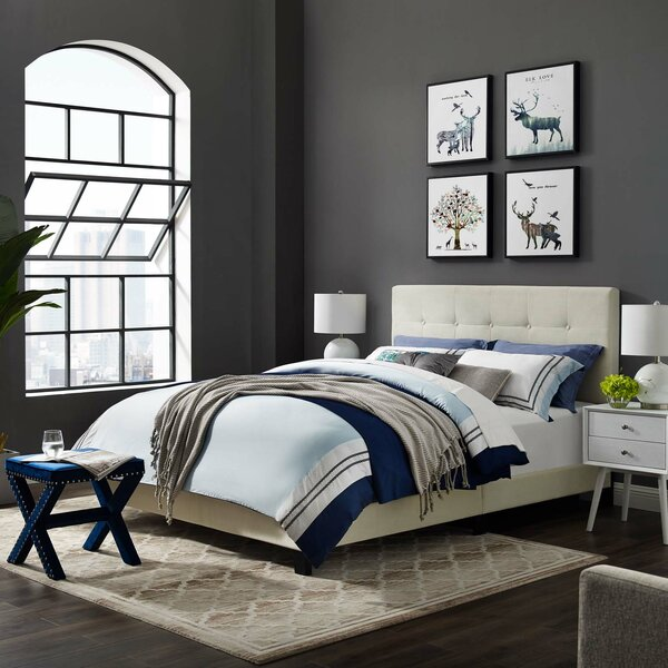 Mei Upholstered Standard Bed by Andover Mills