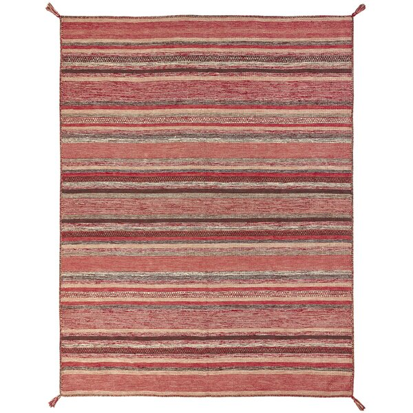 Dockrey Hand-Knotted Cotton Rust Area Rug by Gracie Oaks