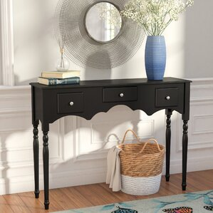 Snyder Wood Drawer Console Table by Three Posts