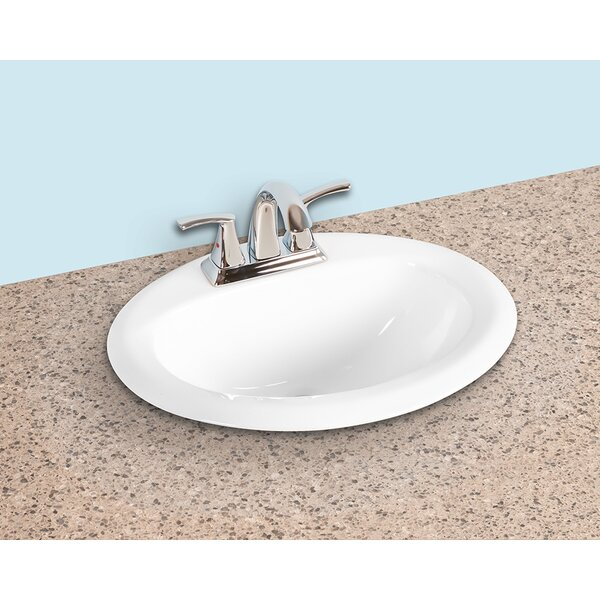 Ceramic Oval Drop-In Bathroom Sink with Overflow by Winfield products