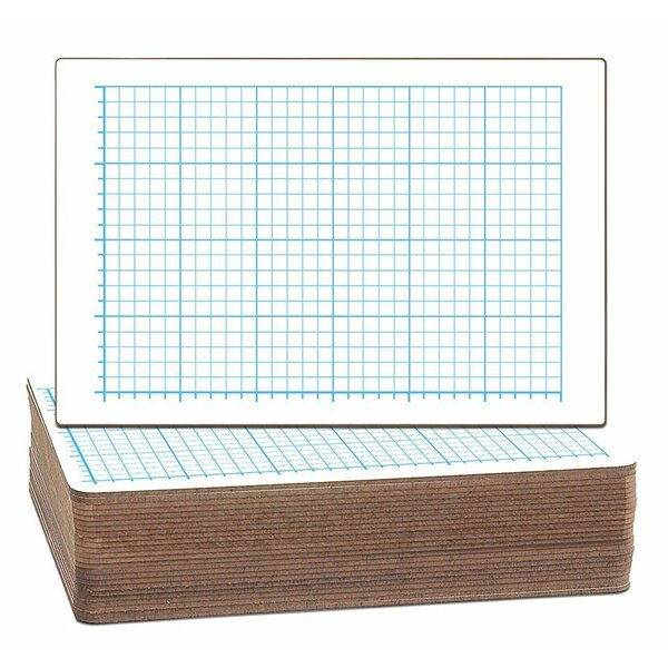 Two-Sided Quadrant Grid Dry Erase Whiteboard (Set of 24) by Flipside Products