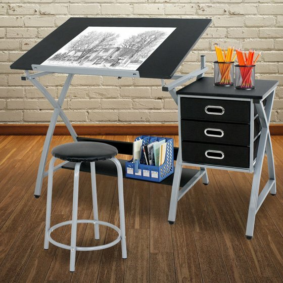 Athens Adjustable Drafting Table by Symple Stuff