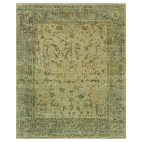 Gerri Ivory/Blue Area Rug by Darby Home Co