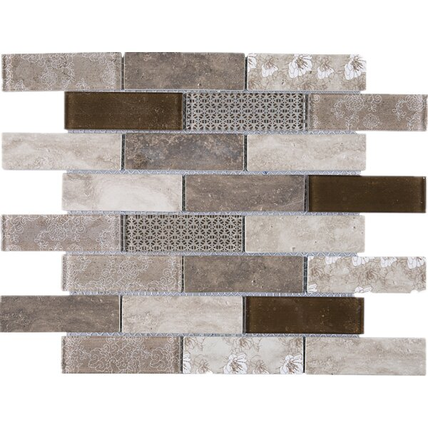 Recycle 1 x 3 Mixed Material Tile in Brown by Multile