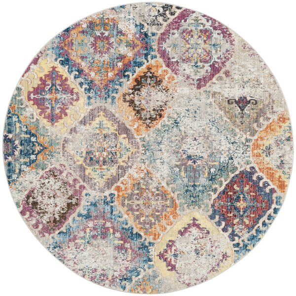 Lusulu Blue/Light Gray Area Rug by Bungalow Rose