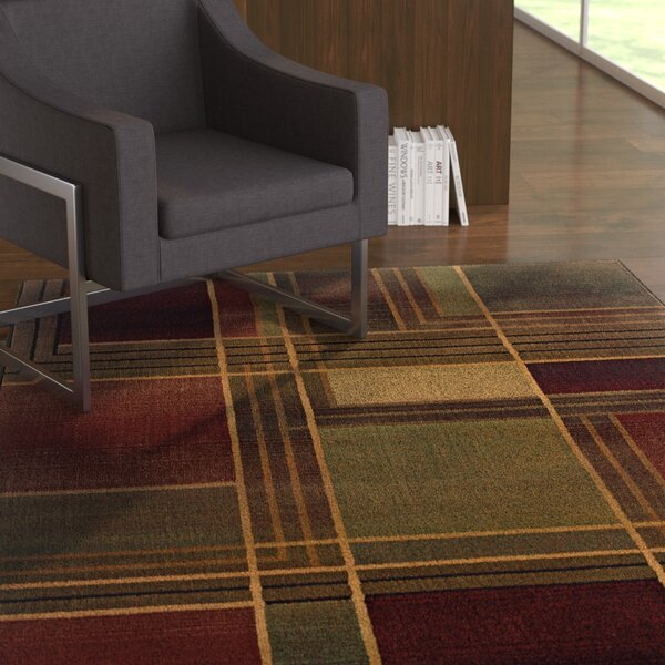 Hinson Green/Purple Area Rug by Latitude Run