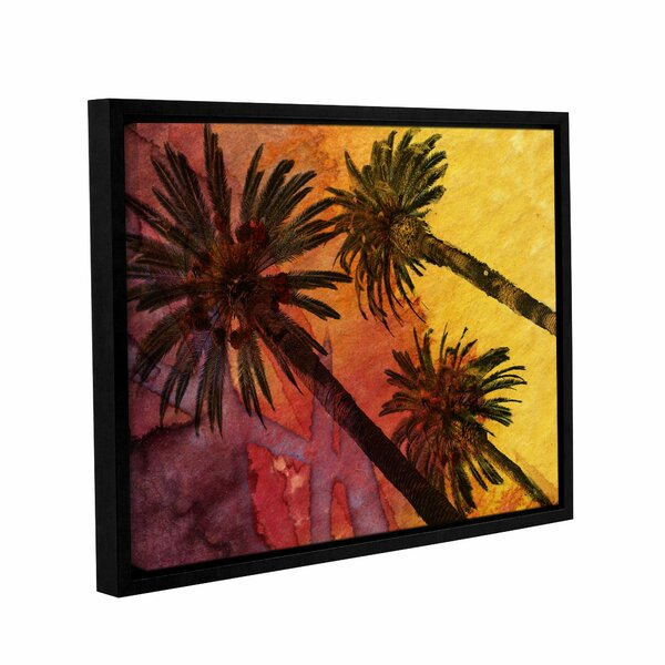 Beach with Palm Trees Framed Painting Print on Wrapped Canvas by Bay Isle Home