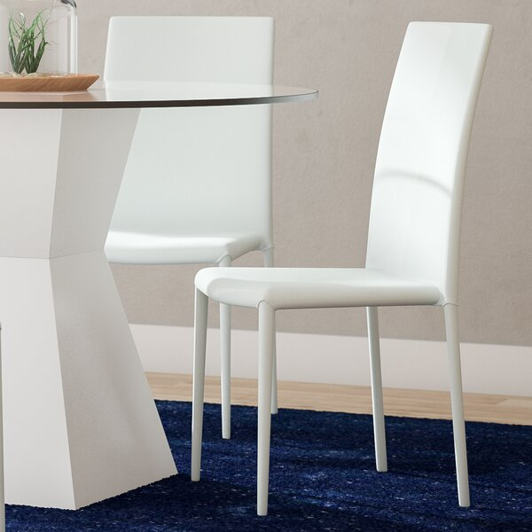 Hannah Upholstered Dining Chair (Set of 4) by Wade Logan