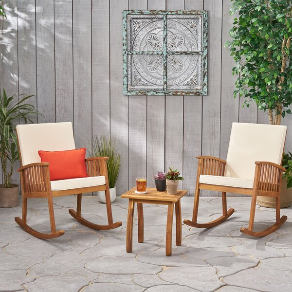 Burlwood 3 Piece Seating Group with Cushions by Union Rustic Union Rustic