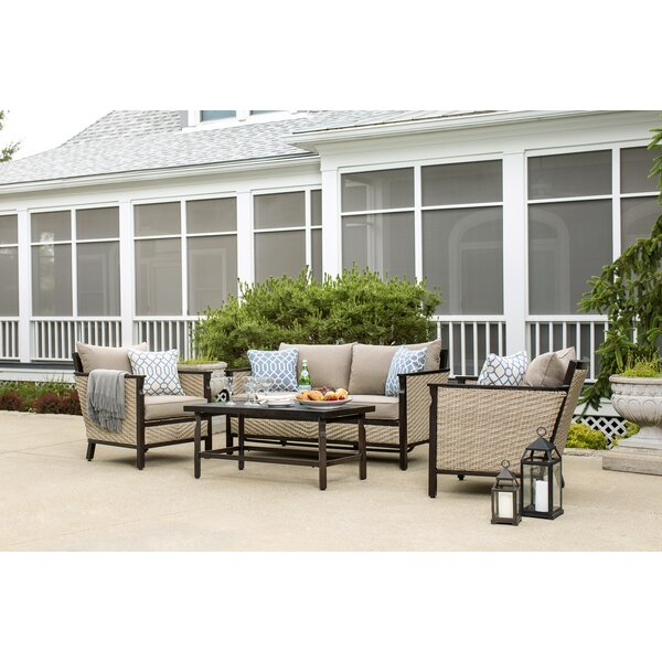 Colton 4 Piece Sunbrella Sofa Seating Group with Cushions by La-Z-Boy Outdoor