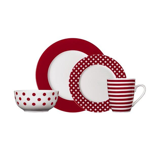 Kenna 16 Piece Dinnerware Set, Service for 4 by Pfaltzgraff Everyday