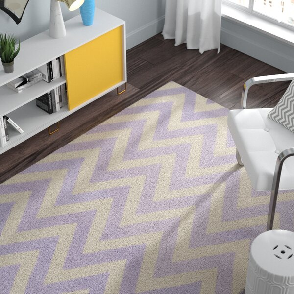 Charlenne Hand-Tufted Wool Lavender/Ivory Area Rug by Zipcode Design