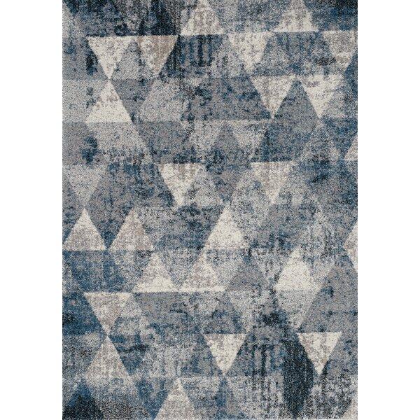 Esqueda Diamonds Blue Area Rug by Brayden Studio