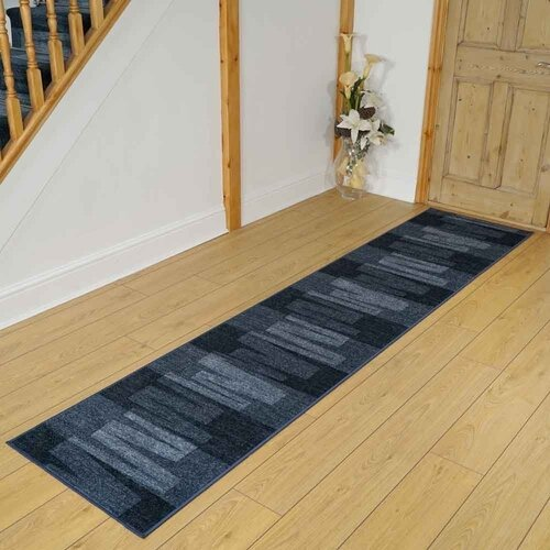 Timucin Via Looped/Hooked Blue/White Rug Latitude Run Rug Size: Runner 66 x 180cm