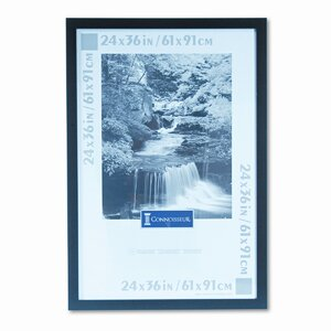 Dominque Black Wood Poster Frame with Plexiglas Window, Wide Profile, 24 x 36
