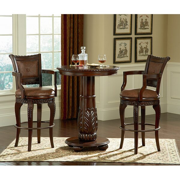 Hassler 3 Piece Pub Table Set by Astoria Grand