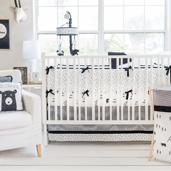 Little Black Bear 3 Piece Crib Bedding Set by My Baby Sam