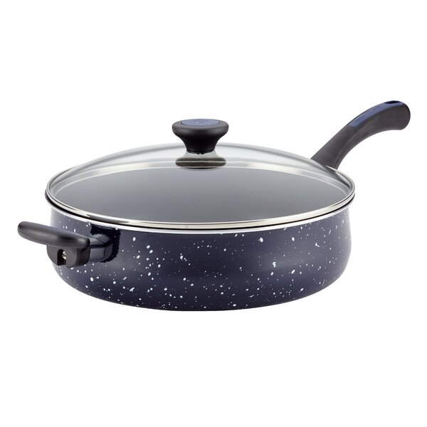 5 qt. Riverbend Aluminum Non-Stick Covered Saute Pan with Lid by Paula Deen