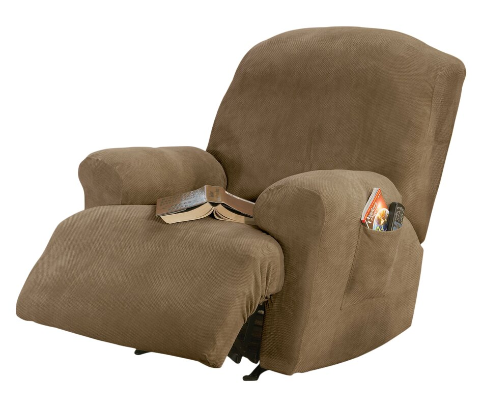 Stretch Pique T Cushion Recliner Slipcover