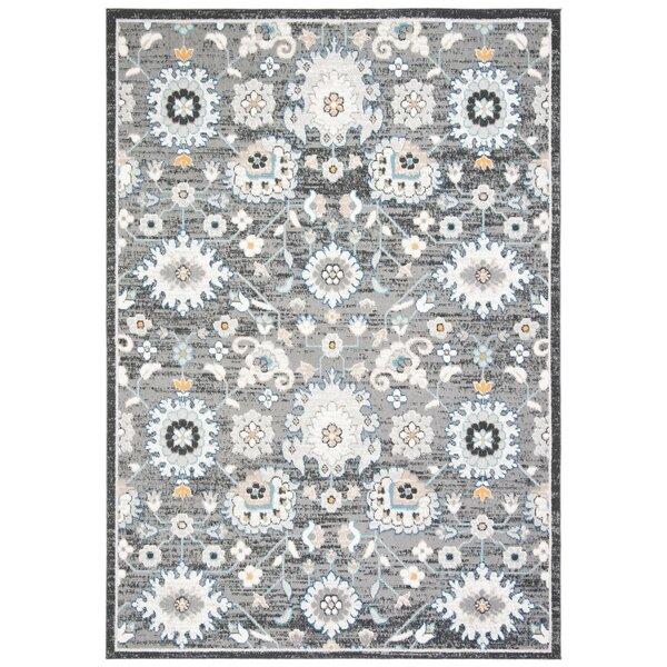 Slesnick Oriental Dark Gray/Ivory Indoor / Outdoor Area Rug