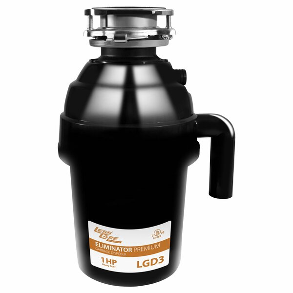 1 HP Continuous Feed Garbage Disposal by LessCare