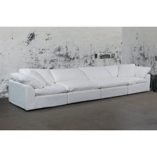 Sunset Trading Cloud Puff Slipcovered 4 Piece Modular Sectional By Latitude Run