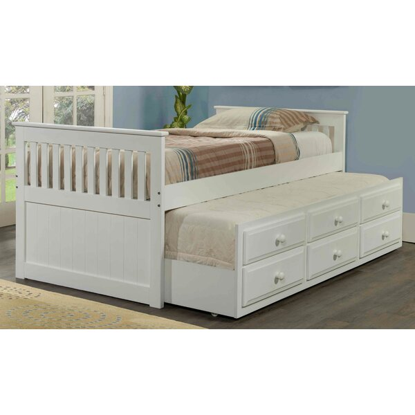 Hillam Captain Twin Bed with Trundle and Drawers by Harriet Bee