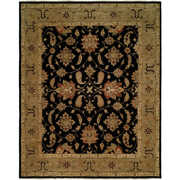 Asseb Hand-Knotted Black/Camel Area Rug by Wildon Home ®