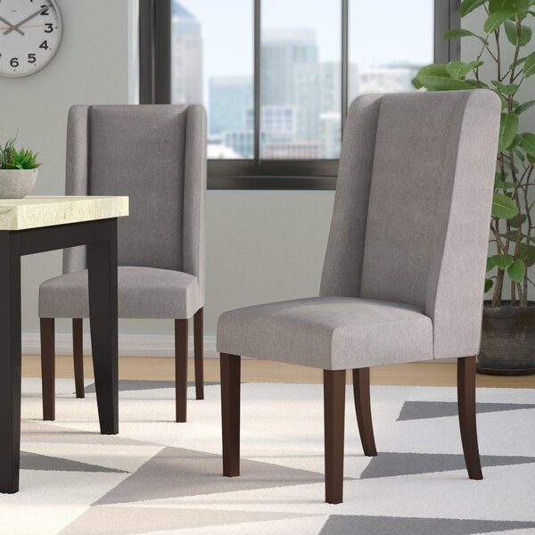 Harlow Upholstered Dining Chair (Set of 2) by Latitude Run