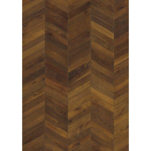Chevron 5-7/8 Engineered Oak Hardwood Flooring in Brown by Kahrs