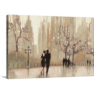 'An Evening Out Neutral' by Julia Purinton Painting Print on Wrapped Canvas by Great Big Canvas