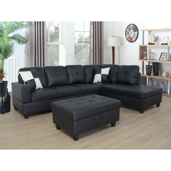 Nese Wellington Living Room 74-inch Modular Sectional With Ottoman By Latitude Run