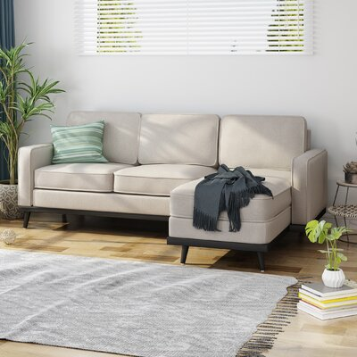 Wrought Studio Mid Century Right Hand Facing Sectional Upholstery Color Sectionals