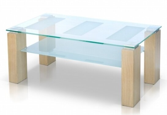 Review Alyson Glass Top Coffee Table