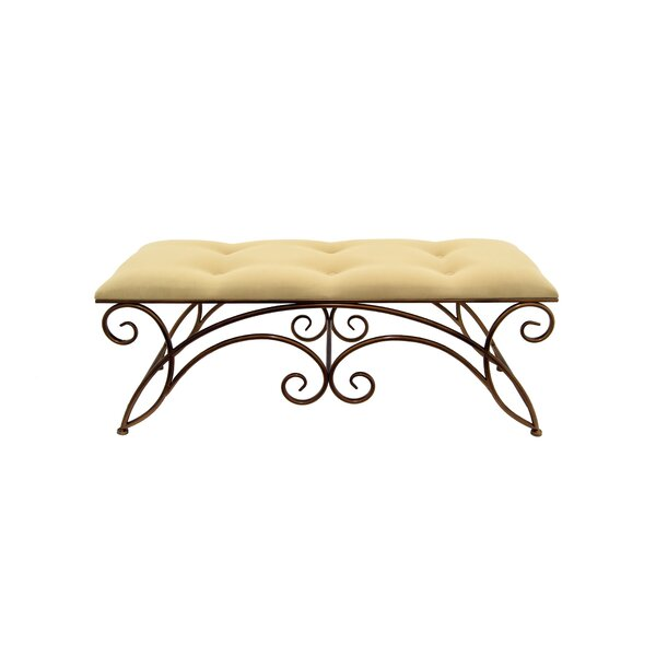 Cogar Upholstered Bench by Fleur De Lis Living