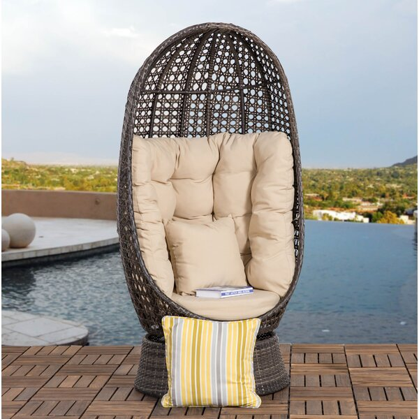 Hearn Outdoor Patio Chair with Cushion by Bungalow Rose