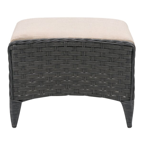 Nata Outdoor Ottoman with Cushion by Highland Dunes