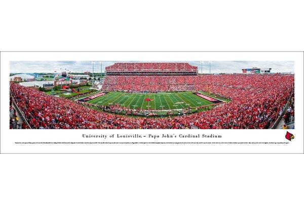 NCAA Louisville Cardinals Football 50 Yard Line Photographic Print by Blakeway Worldwide Panoramas, Inc