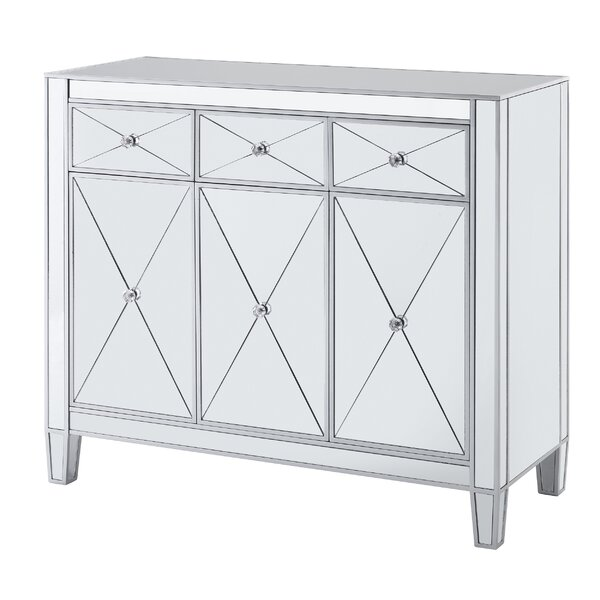 Stgeorge 3 Door Mirrored Accent Cabinet by House of Hampton House of Hampton