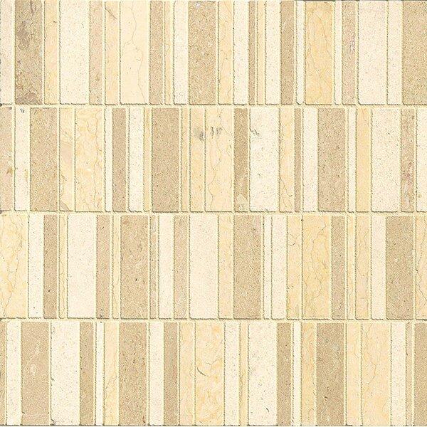 Random Sized Limestone Mosaic Tile in Honed Blend/Brown by Bedrosians