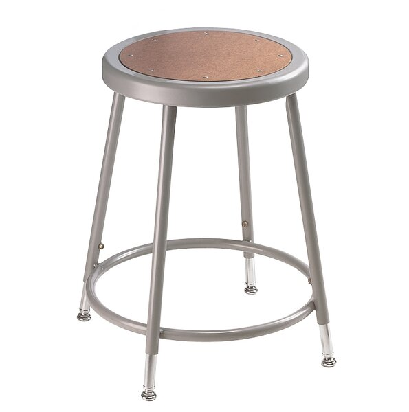 Height Adjustable Drafting Stool with Footring by National Public Seating