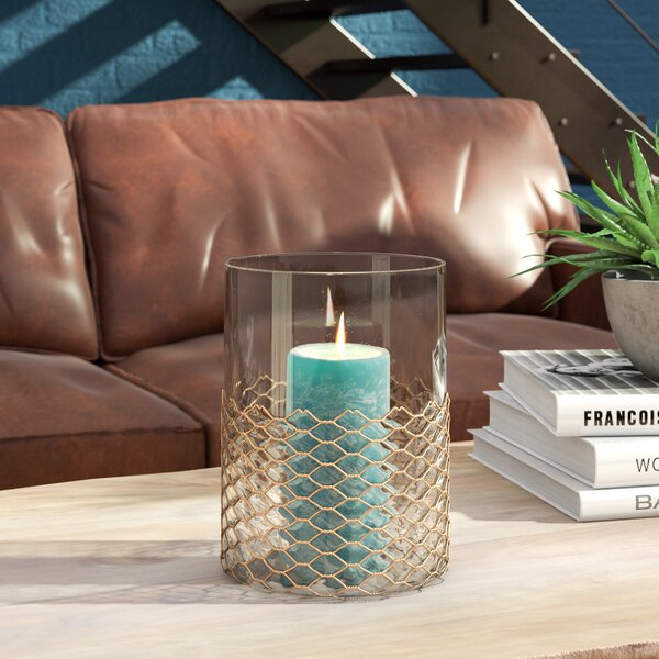 Lani Wire Glass Hurricane by Trent Austin Design
