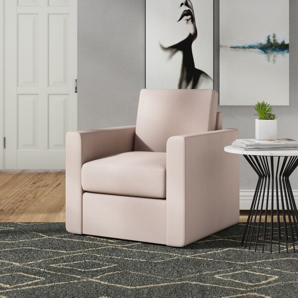 Feng Swivel Armchair By Modern Rustic Interiors