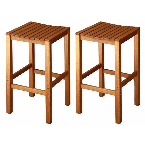 Cadsden 30 Patio Bar Stool (Set of 2) by Three Posts