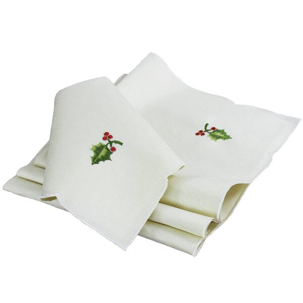 Winter Berry Christmas Napkin (Set of 4) by Xia Home Fashions