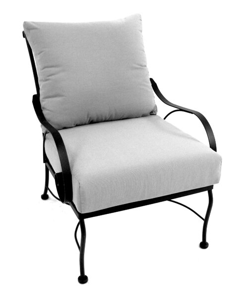 Uribe Deep Seating Chair with Cushion by Fleur De Lis Living