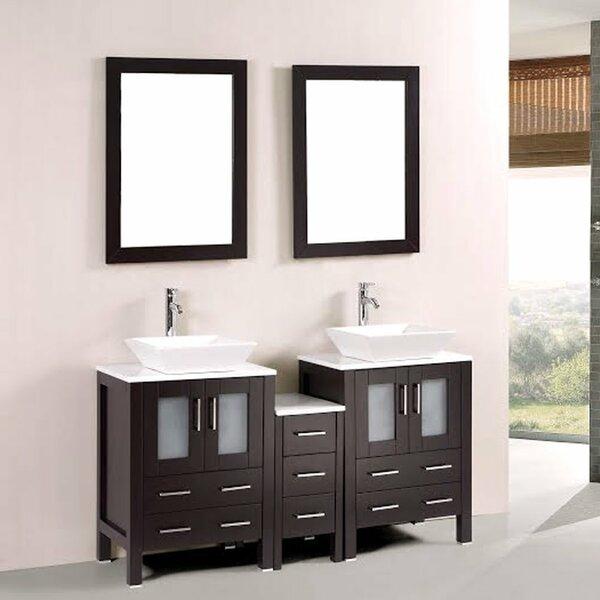 60 Double Bathroom Vanity Set with Mirror by Kokols
