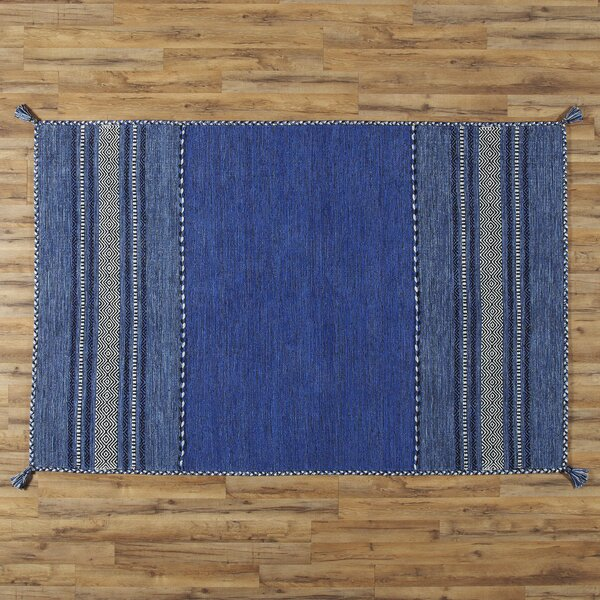 Fogarty Handwoven Blue Area Rug by Birch Lane™